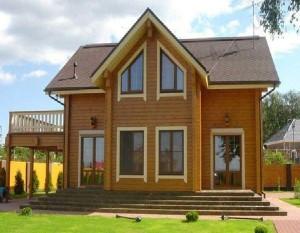 Деревянный дом из клееного бруса своими руками