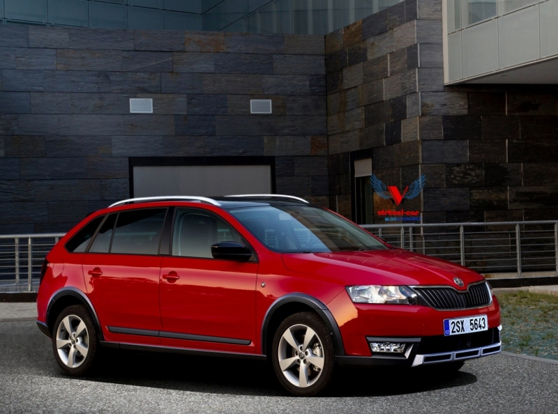 Skoda Rapid Spaceback Scout рендер Auto