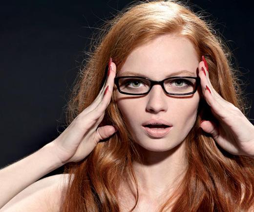 Модница в очках