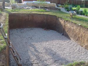 Подготовка основания для строительства бассейна