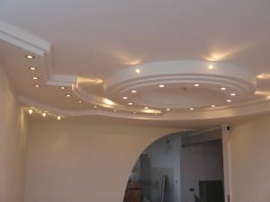 Использование гипсокартона для отделки потолка