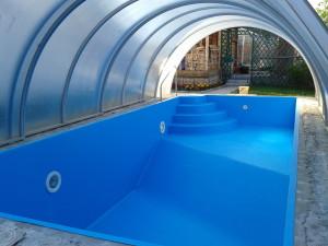 Отделка бассейна плёнкой ПВХ