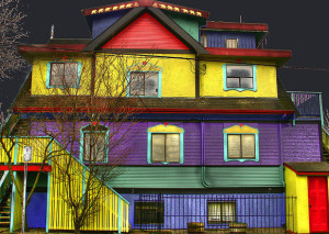 Покраска фасадов домов