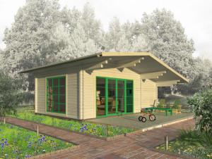 Проект загородного дома. Домик в стиле Шале