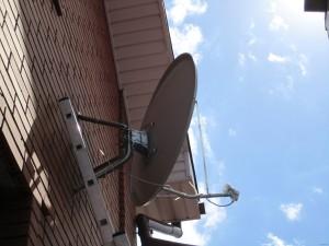 Установка спутниковой тарелки для приема НТВ Плюс или Триколор