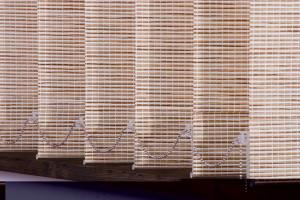 Жалюзи — ткань и плетеное дерево