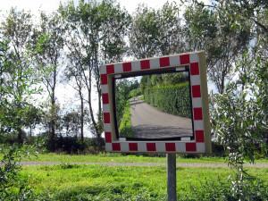 Дорожные знаки и зеркала безопасности