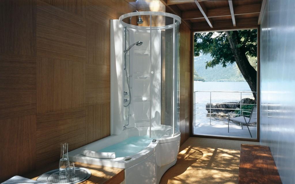 Душевая кабина и ванна — 2 в 1