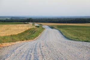 Как строят гравийные дороги