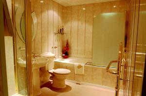 Практичная отделка для ванной комнаты и туалета