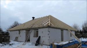 Строительство четырехскатной крыши