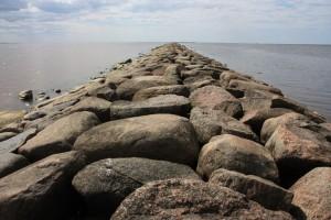 Каменный мол Пярну