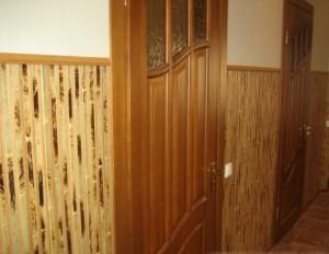 Оклейка бамбуковых обоев