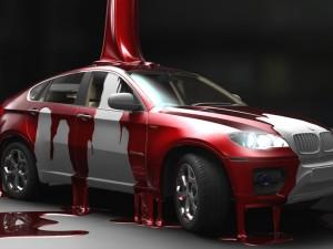 Процесс подготовки автомобиля для покраски
