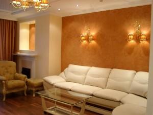 Гладкие декоративные покрытия - штукатурки и краски - безопасность и изысканность в одном интерьере