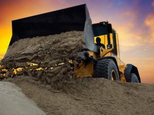 Используем бульдозер при строительных работах