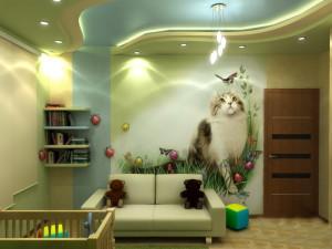 Оформляем потолок в детской комнате