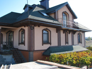 Декор фасада частного дома