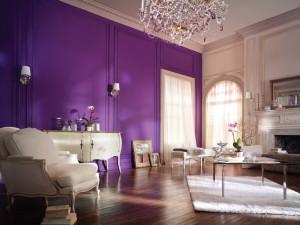 Фиолетовый цвет в интерьере: сочетание фиолетового цвета в интерьере