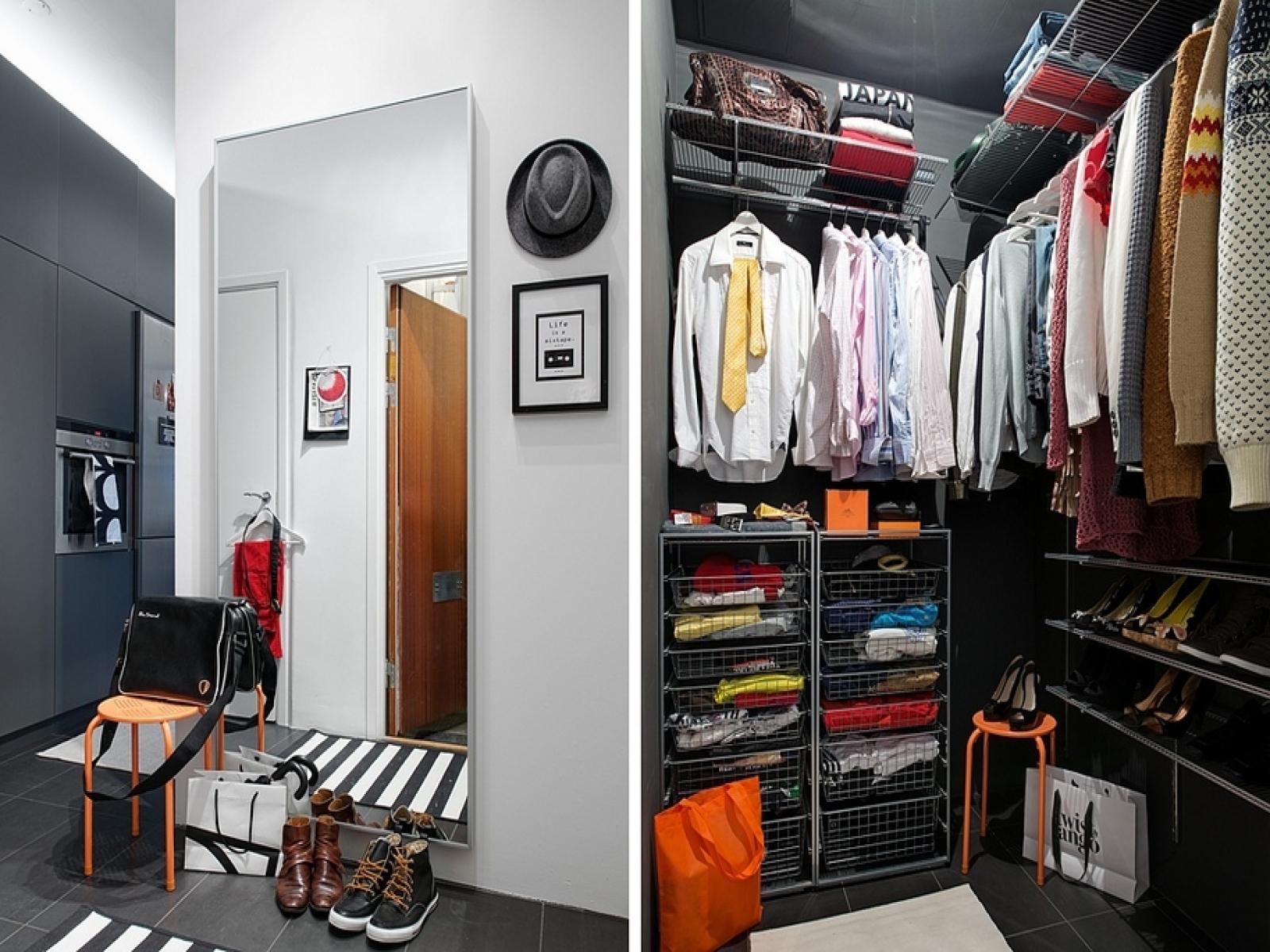 Качественный дизайн гардеробной комнаты