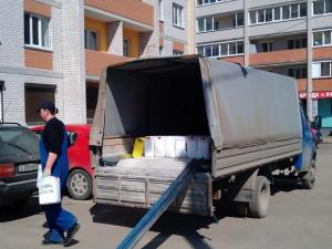 Услуги грузоперевозки для приобретенных строительных материалов