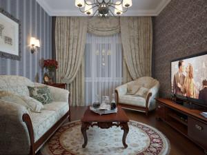 Домашние декорации в гостиной