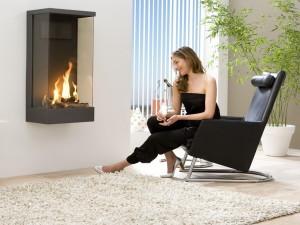 Газовый камин в квартире, как элемент дизайна