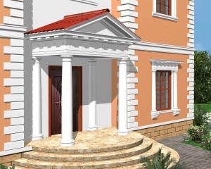 Лепнина в оформлении фасада дома