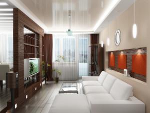 Маленькая гостиная? Подними пол и потолок!