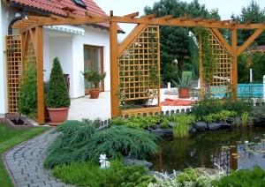 Модные сооружения в ландшафтном дизайне