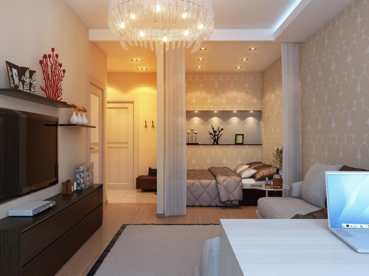 Дизайны однокомнатных квартир 38 кв.м