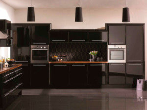 Выбор цвета для интерьера кухни (черный)