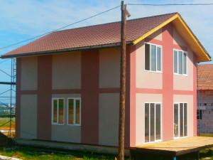 Фасадные системы в доме из бруса