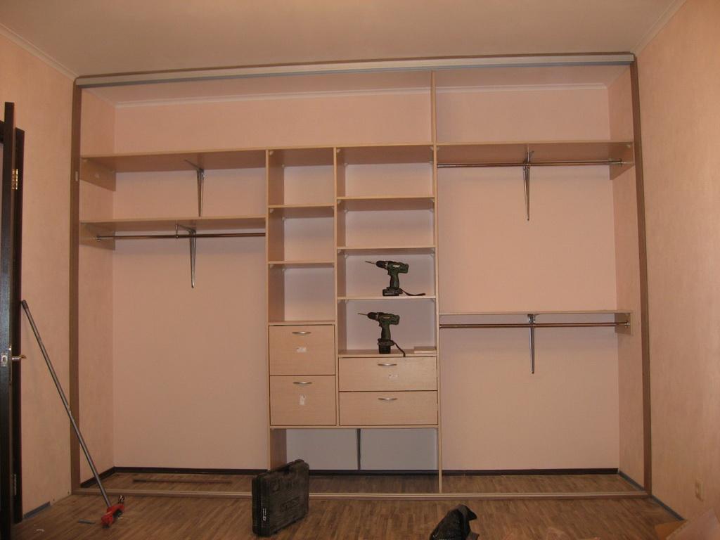 Шкаф в прихожую из гипсокартона своими руками фото 264