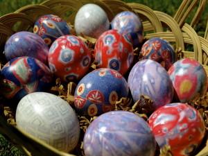 Крашеные яйца Пасхи