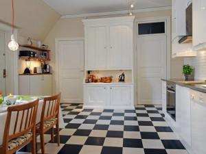 Плитка на пол кухни