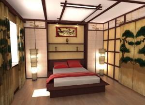 Японский стиль для спальни