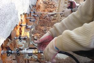 Инъекция цементных растворов