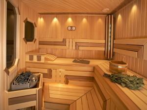 Внутреннее помещение бани и современные отопительные котлы
