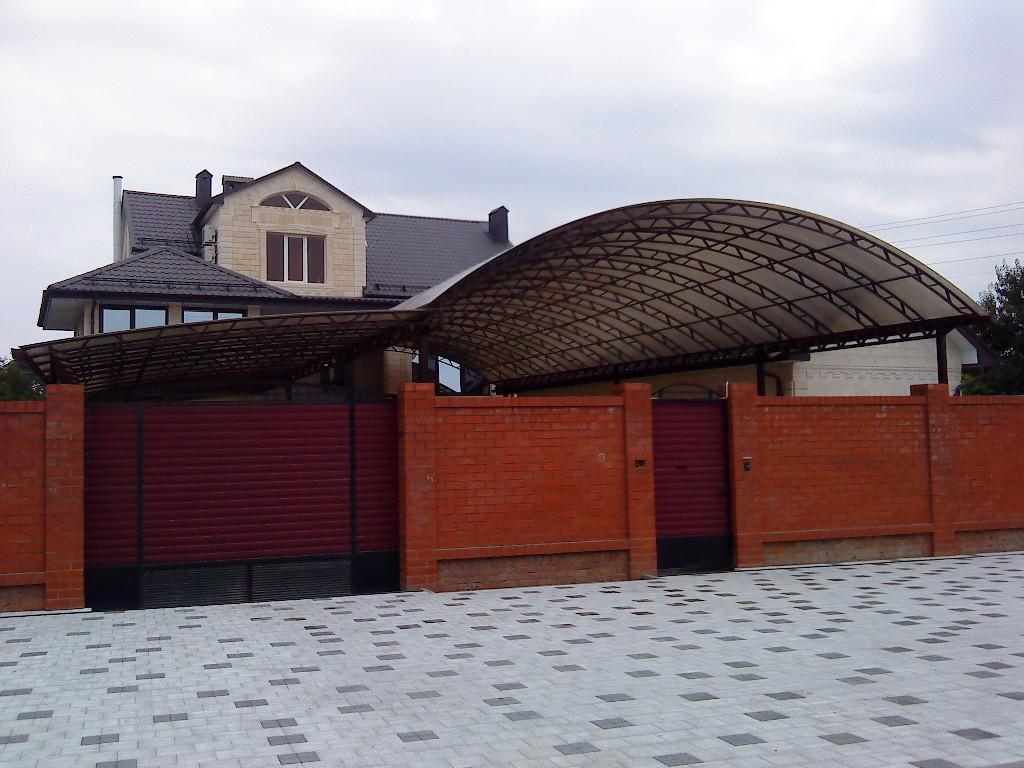 Навесы из поликарбоната в Краснодаре