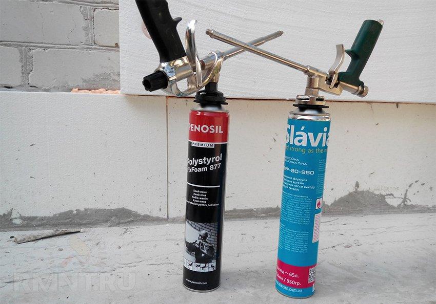адгезия монтажной пены к бетону