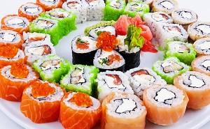 Доставка суши и разнообразных роллов