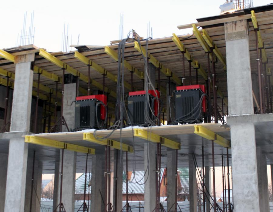 бетон прогрев