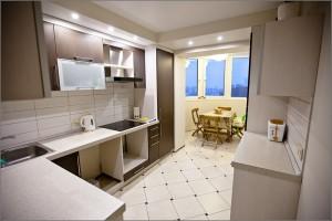 Лоджия на кухне: как рационально использовать пространство