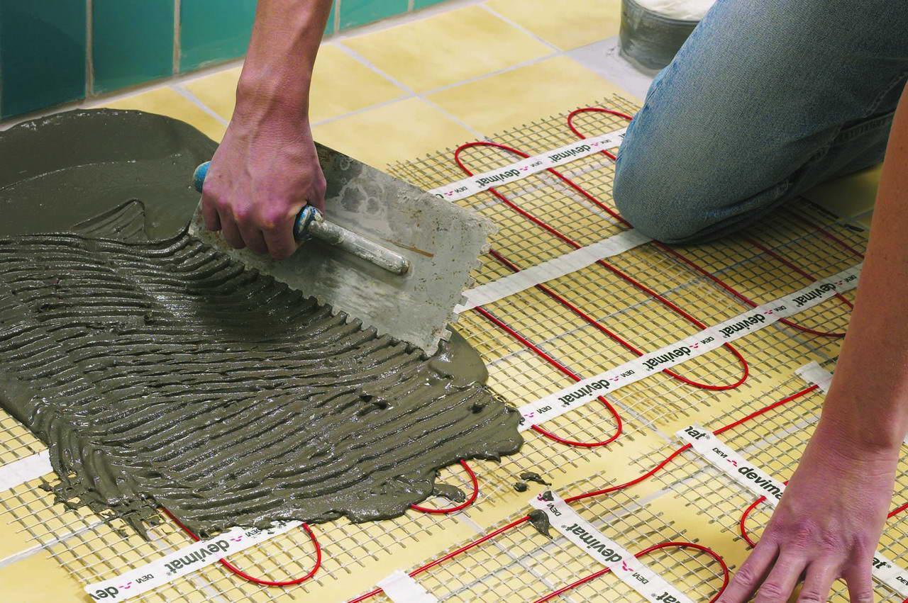 Выбираем клей для плитки под теплый пол