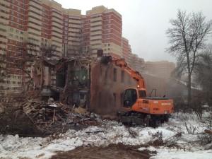 Демонтаж домов и зданий