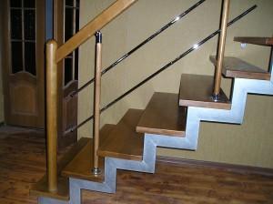 Отделка металлических лестниц деревом все тонкости и нюансы
