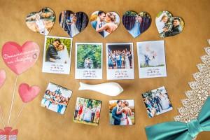 Магниты на холодильник своими руками с фотографиями семьи в виде Polaroid